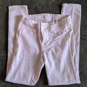 Skinny regular waist white pants